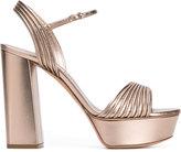 Casadei open toe platform sandals - women - Leather - 35