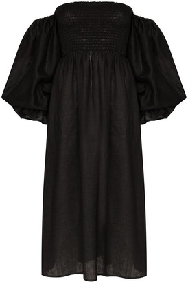 Sleeper Atlanta off-the-shoulder dress