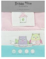 NEW Bubba Blue Baby Owl Pink Bassinet Sheet (Set of 3)