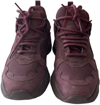 IRO Fall Winter 2019 Burgundy Leather Trainers