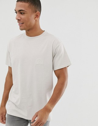 New Look oversized t-shirt with sun print in stone