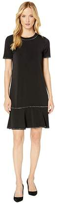 MICHAEL Michael Kors Stud Short Sleeve Ruffle Dress