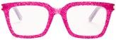 Saint Laurent Rectangle-frame glitter-acetate glasses