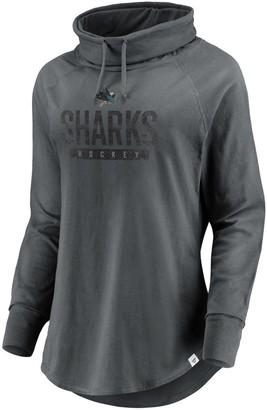 Women's Fanatics Branded Charcoal San Jose Sharks Be A Pro Cowl Neck Sweatshirt