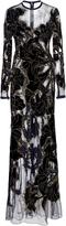 Elie Saab Bead Embroidered Illusion Gown