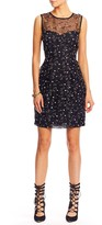 Nicole Miller Baby's Breath Embellishment Tulip Dress