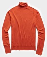 John Smedley Sweaters Easy Fit Turtleneck in Orange