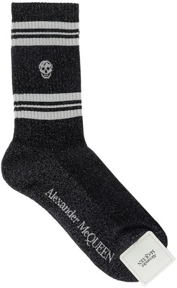 Alexander McQueen Skull Striped Socks