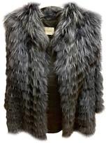 Yves Salomon Blue Rabbit Coat for Women