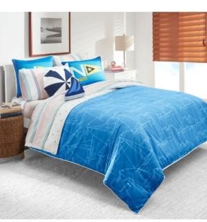 Nautica Sailboat Blueprint 2-Piece Twin Comforter Set Bedding