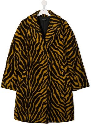 MonnaLisa Double-Breasted Tiger Print Coat