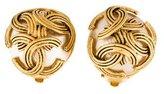Chanel CC Pearl Clip-On Earrings