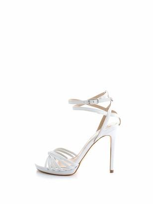 GUESS Women's Tonya/Sandalo (Sandal)/Leather Ankle Strap Heels