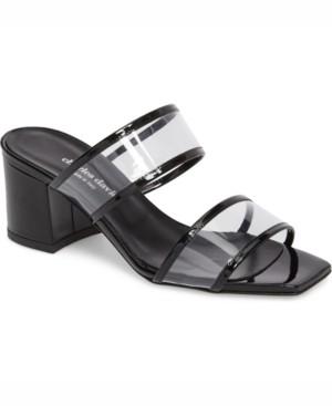 Charles David Cally Vinyl Block-Heel Sandals Women's Shoes