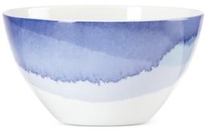 Lenox Indigo Watercolor Stripe Porcelain All-Purpose Bowl, Created for Macy's