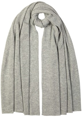 Johnstons of Elgin Knitted Gauzy Cashmere Stole Silver