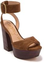 Sam Edelman Rain Suede Platform Ankle Strap Sandal