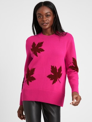 Banana Republic Relaxed Maple Leaf Sweater