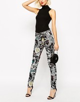 Love Moschino Jeans In Tattoo Print
