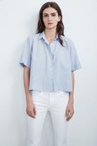 Callista Cotton Poplin Short Sleeve Button-Up