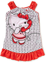Komar Kids Big Girls 7-16 Hello Kitty Dotted Ruffled Nightgown