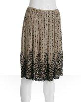 blonde sequined silk chiffon 'Barbara' skirt