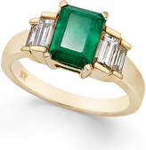 Macy's Emerald (1-5/8 ct. t.w.) and Diamond (3/4 ct. t.w.) Ring in 14k Gold