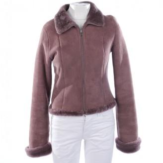 Herve Leger Pink Fur Jacket for Women