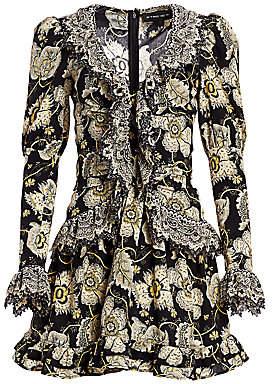 Etro Women's Floral Ruffle Mini Dress