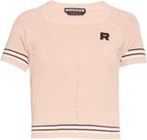 Rochas Logo-patch lightweight-knit top