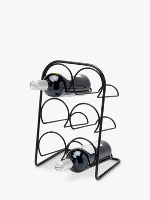 Hahn Pisa Freestanding Metal Wine Rack, 6 Bottle, Black