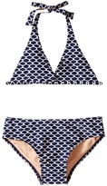 Toobydoo Navy/White Pattern String Bikini (Infant/Toddler/Little Kids/Big Kids)