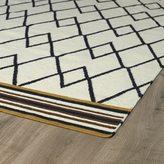 Tribeca Flatweave Ziggy Black Wool Rug (2'6 x 8')