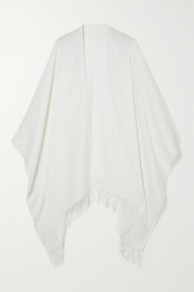 Rag & Bone Fringed Cotton And Wool-blend Wrap - White