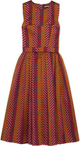 House of Holland Pleated chevron jacquard dress