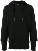 Diesel staggered sleeve hoodie - men - Cotton - M