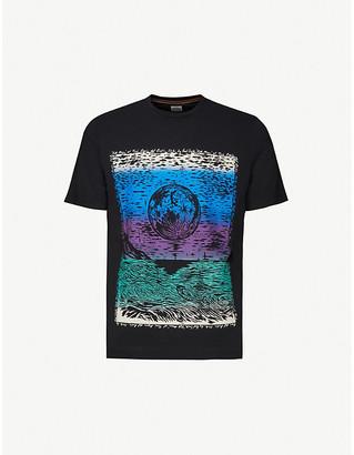 Paul Smith Moon graphic-print organic cotton-jersey T-shirt