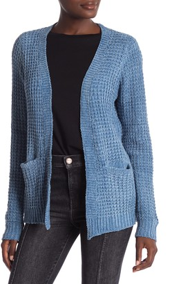 Woven Heart Chenille Open Front Cardigan