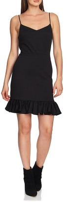 1 STATE Ruffle Hem Mini Dress