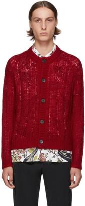 Prada Red Mohair Cardigan