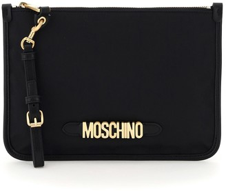 Moschino Fabric Pouch Lettering