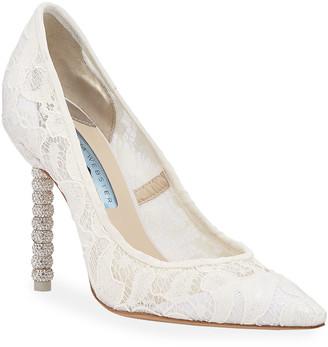 Sophia Webster Coco Crystal Lace Bridal Pumps