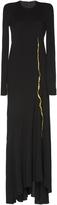 Haider Ackermann Embroidered Round Shoulder Dress