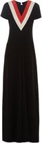 Altuzarra Wilson chevron-patterned crepe dress