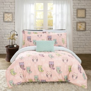 Chic Home Owl Forest 6 Piece Twin Bed In a Bag Comforter Set Bedding