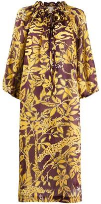 L'Autre Chose Silk Floral Pattern Dress