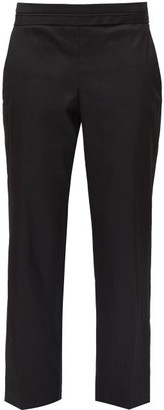 The Row Henry Cropped Straight-leg Trousers - Black