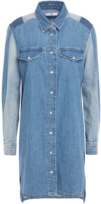 7 For All Mankind Patchwork-effect Denim Shirt Dress
