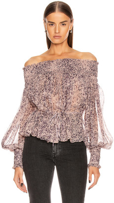 Redemption Pintuck Bare Shoulder Top in Campione | FWRD