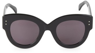 Alaia 48MM Embellished Oversized Cat Eye Sunglasses